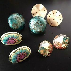 🔥5/$15 four pair of pierced earrings